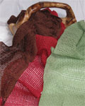 Handwoven lace scarves