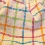 windowpanes baby blanket