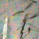 handwoven cotton flannel baby blanket