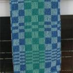 blues & greens towel, darker