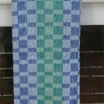 blues & greens towel, lighter