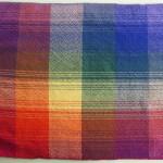 rainbow plaid placemat