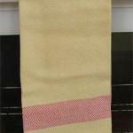 yellow towel with orange border