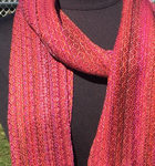 handwoven Sunset scarves
